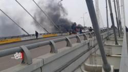 "Protestors block ""The Civilizations Bridge"" in Dhi Qar"