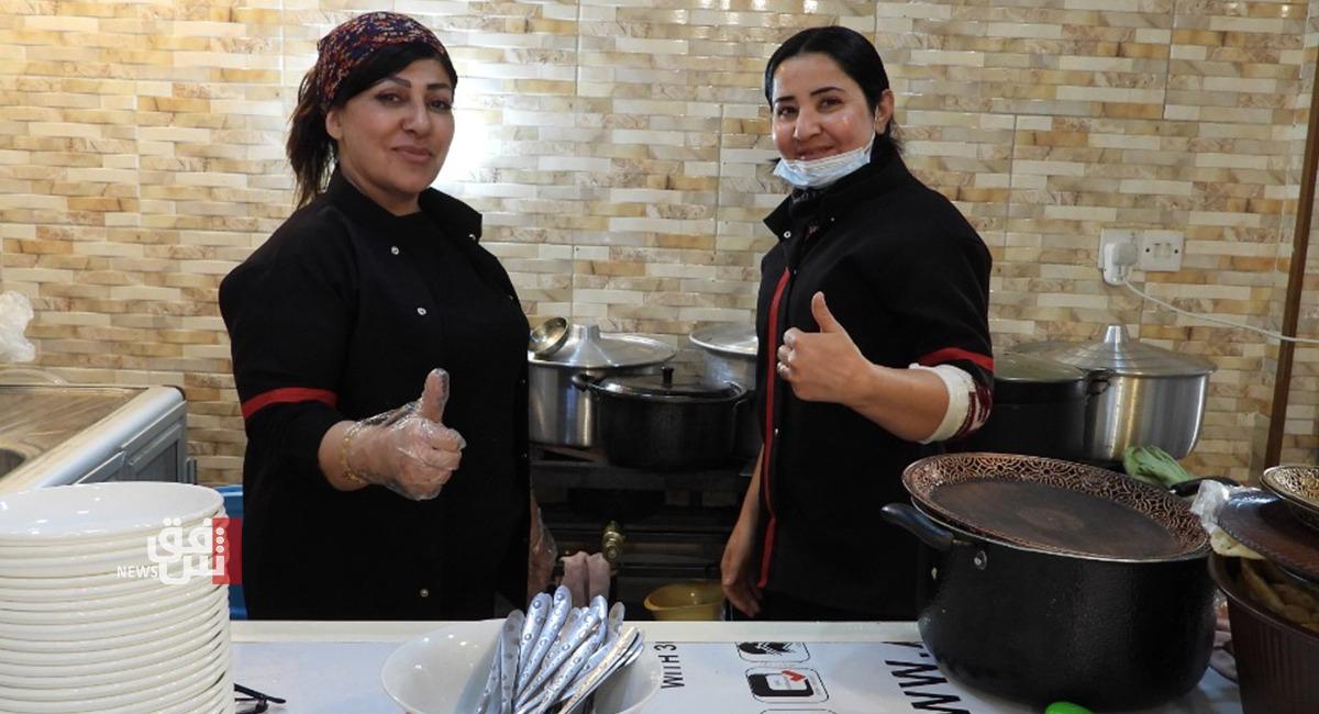 أكل بطعم البيت.. مطعم بإدارة النساء في السليمانية