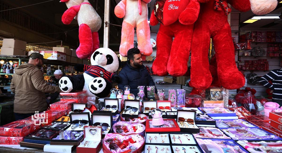 """صور.. بغداد تستعد لـ""""الفالانتاين"""""""
