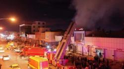 صور.. النيران تلتهم محالاً تجارية بأربيل