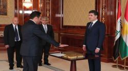 صور.. محافظ أربيل أوميد خوشناو يؤدي اليمين القانونية أمام رئيس الاقليم