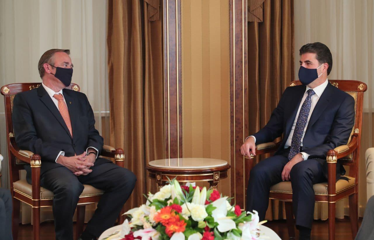 بارزاني يبحث مع سفير هولندا جذب الاستثمارات إلى إقليم كوردستان