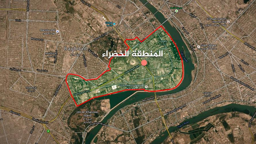 Four rockets land near the Green Zone in Baghdad
