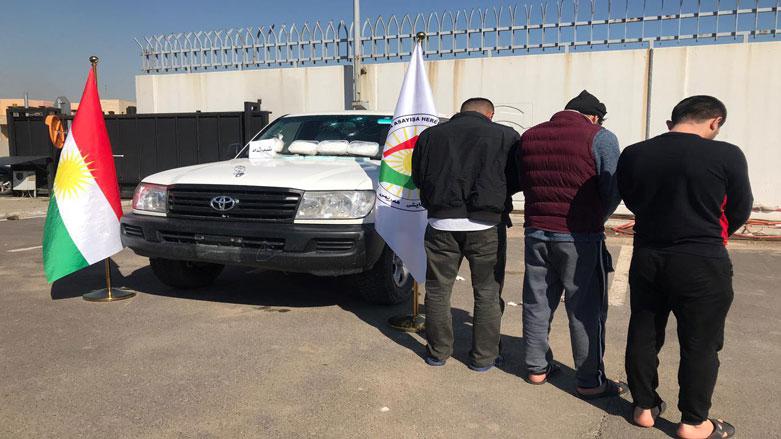 """القبض على ثلاثة متاجرين بالمخدرات وبحوزتهم 3 كغم من """"الشيشه"""" شمالي أربيل"""