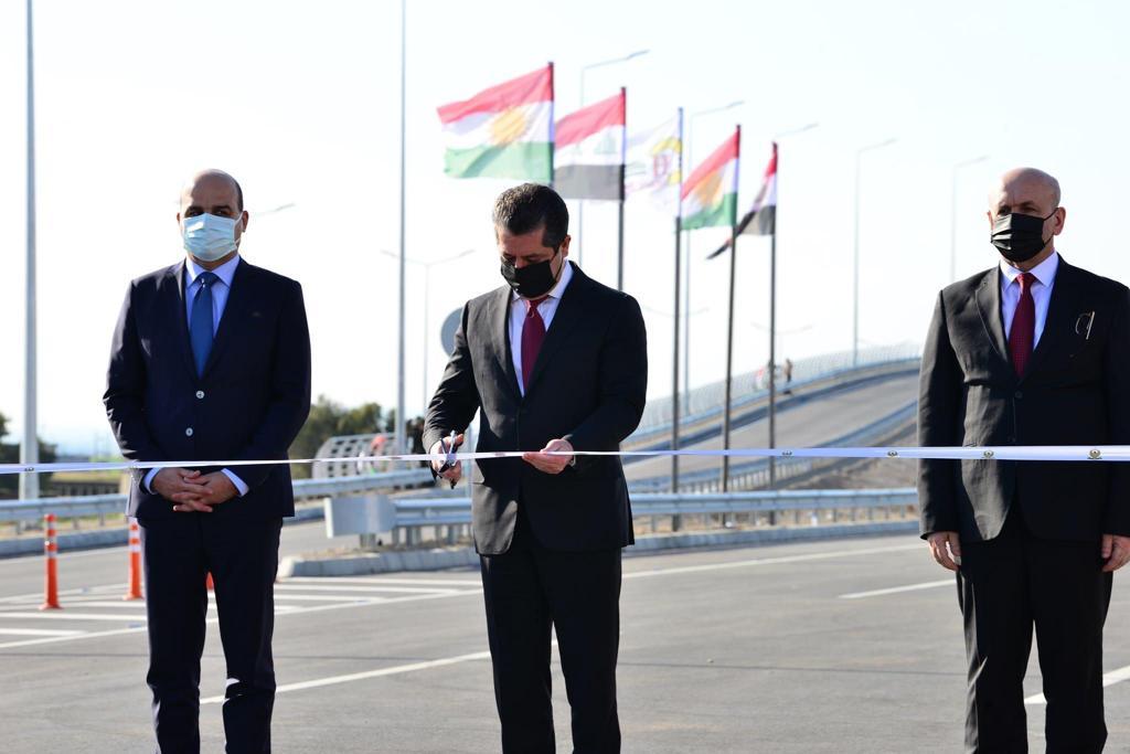 كوردستان تدشن جزءاً من طريق استراتيجي باربيل