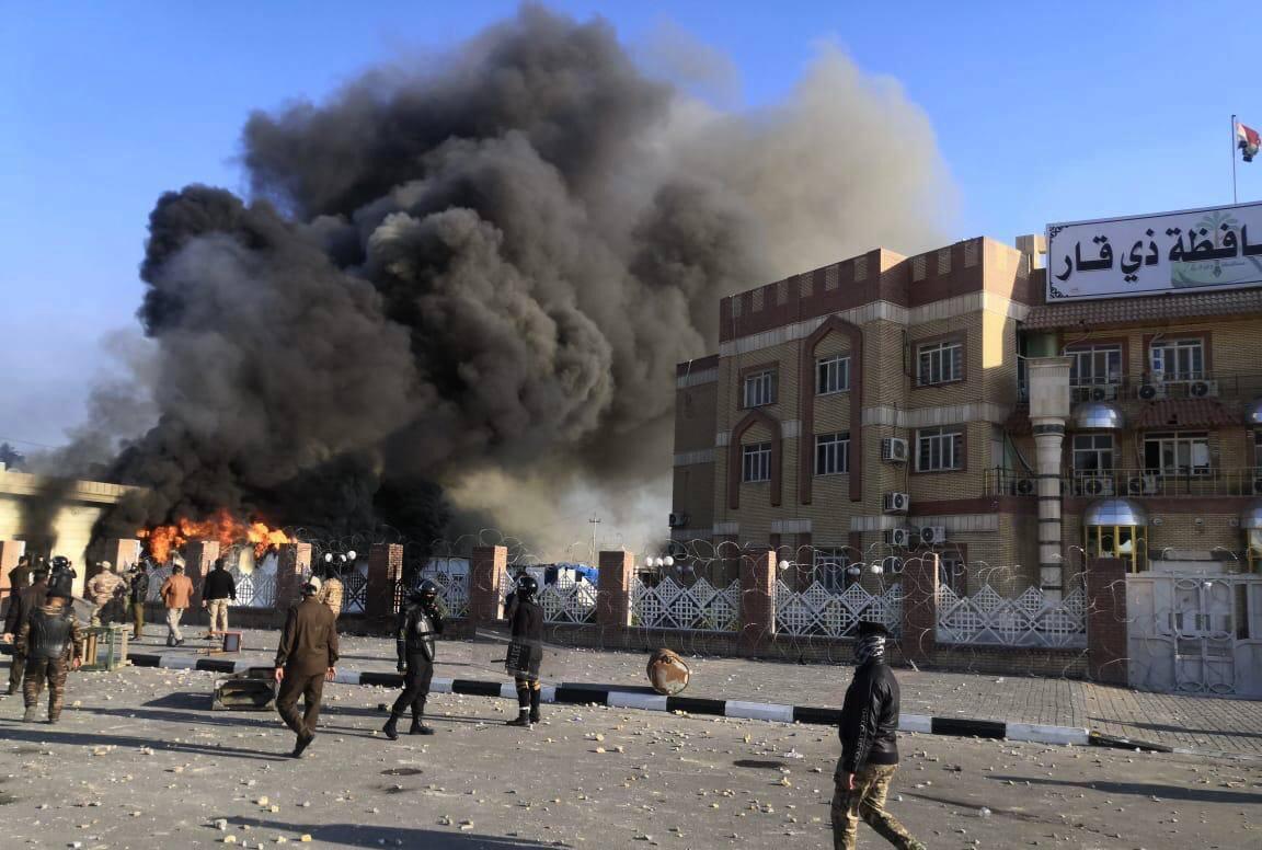 """السفارة الأميركية في العراق """"مستاءة"""" من العنف بالناصرية"""