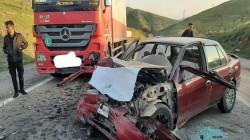 مصرع وإصابة 4 أشخاص بحادثين في السليمانية وديالى