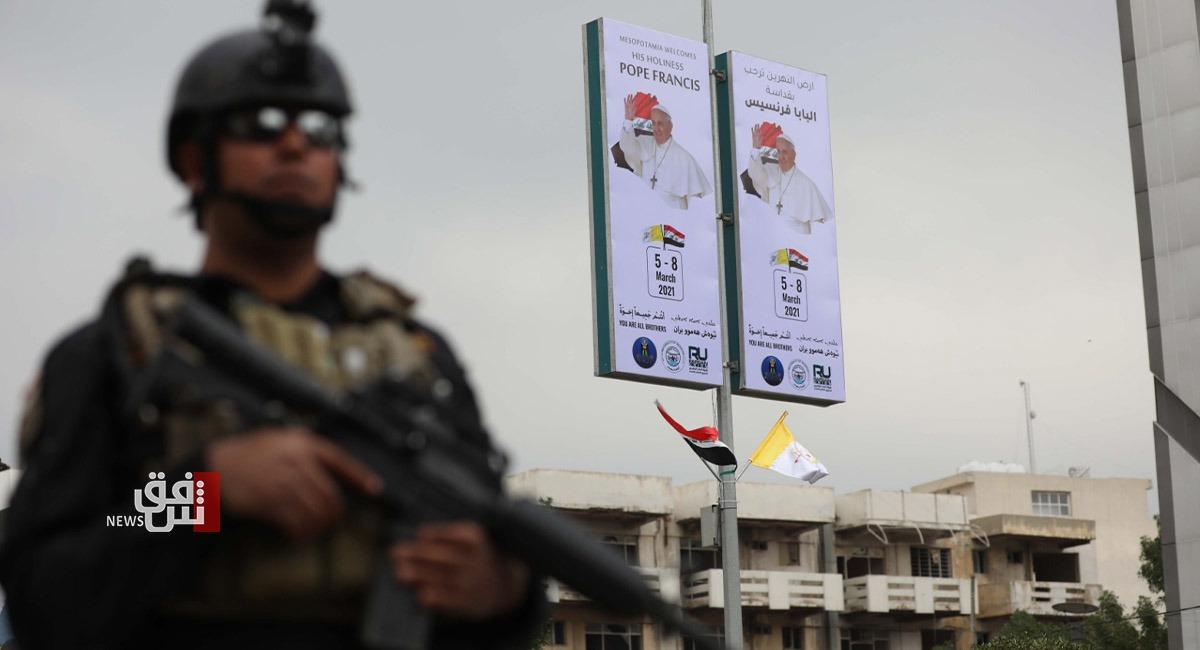 إجراءات غير مسبوقة.. نينوى تستعين بقوة من بغداد لتأمين زيارة البابا