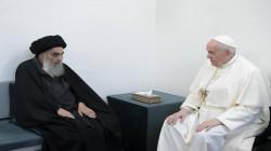 مكتبه يفصح عما دار بين السيستاني والبابا في اللقاء التاريخي بالنجف