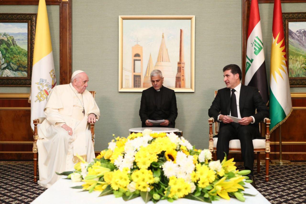 نيجيرفان بارزاني عقب لقاء البابا: نكرر التزامنا الدائم بالسلام والحرية الدينية والأخوة
