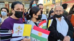 احتفالات أهالي عنكاوا في استقبال البابا فرنسيس