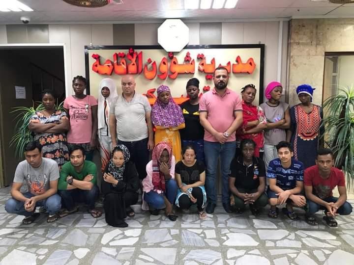 الإقامة تعلن تسفير 124 أجنبياً من العراق لمخالفتهم الشروط