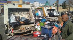 إضراب عمال الخدمات بالسليمانية .. والقمامة تغزو المدينة (صور)
