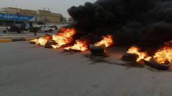 """فيديو وصور.. صدامات وحرق إطارات في المثنى والنجف احتجاجاً على اغتيال """"جاسب"""""""