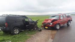 إصابة 6 أشخاص بحادث اصطدام على طريق أربيل-دهوك