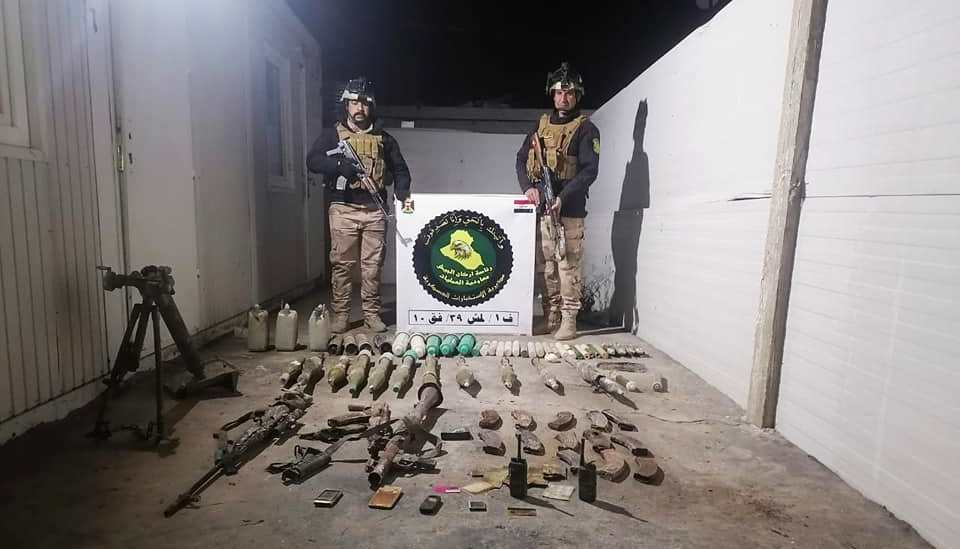 Iraqi Forces seize ISIS weapons and equipment in Al-Anbar