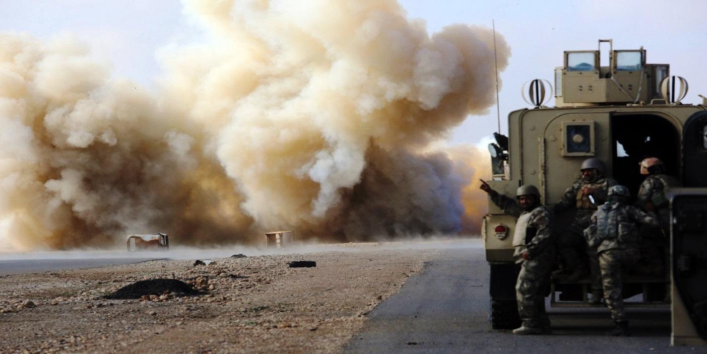 انفجار عبوة ناسفة استهدفت رتلا للتحالف الدولي في الديوانية