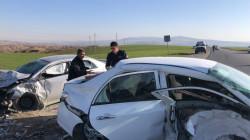 صور .. إصابة ثمانية أشخاص بحادث على طريق شقلاوة الرئيس في أربيل