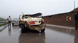 صور .. إصابة خمسة أفراد من أسرة واحدة بحادث في أربيل