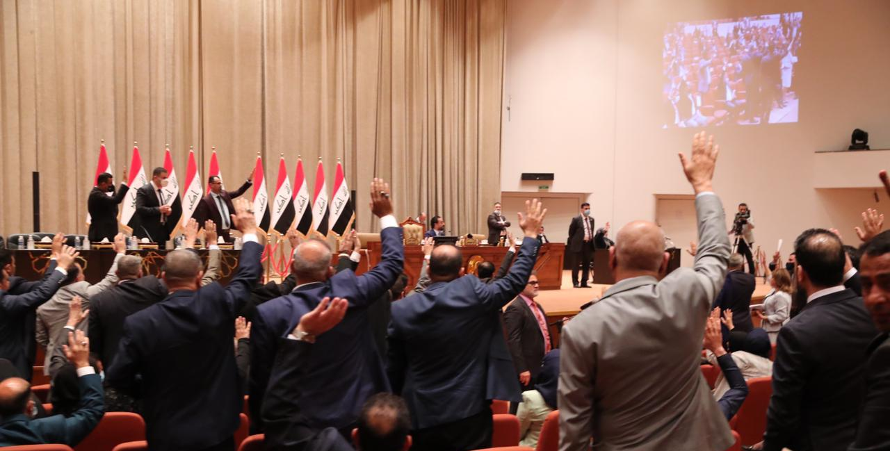 Iraq's Parliament votes on the 2021 budget, dissolving itself in October