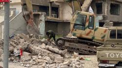 صور.. الحشد يعثر على جثث دواعش ويضبط أسلحة تحت الأنقاض بالموصل