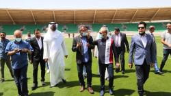الوفد الخليجي يتفقد الملعب الثانوي للمدينة الرياضية في البصرة