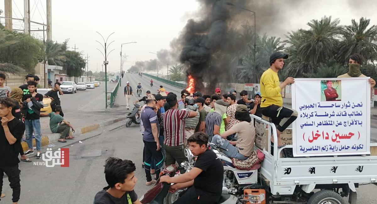صور.. تصعيد جديد جنوبي العراق بسبب اعتقال متظاهر