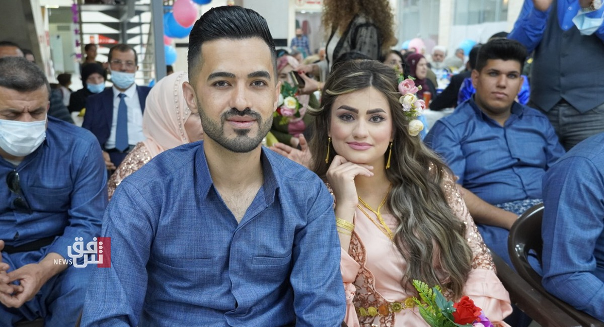 السليمانية.. زواج جماعي لـ48 عروسا وعريسا من ذوي الاحتياجات الخاصة (صور)