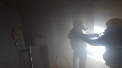 بالصور.. الدفاع المدني يسيطر على حريق وسط النجف