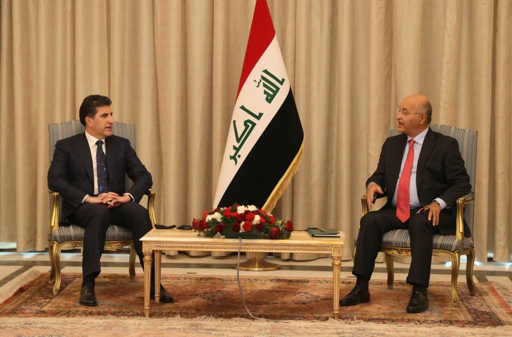 رئيسا الجمهورية وإقليم كوردستان يؤكدان أهمية تنفيذ بنود الموازنة