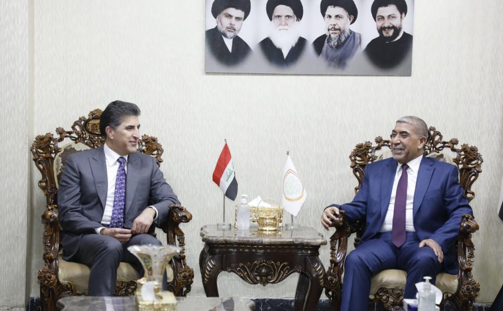 رئيس اقليم كوردستان يبحث عدة ملفات مع التيار الصدري