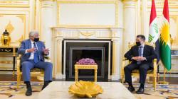 Masrour Barzani meets the Russian ambassador to Iraq in Erbil