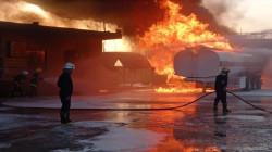 """استنفار في المثنى لاحتواء حريق """"هائل"""" بمحطة وقود"""