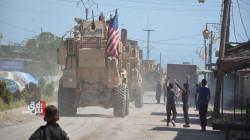 US units patrol on the Syrian-Turkish borders