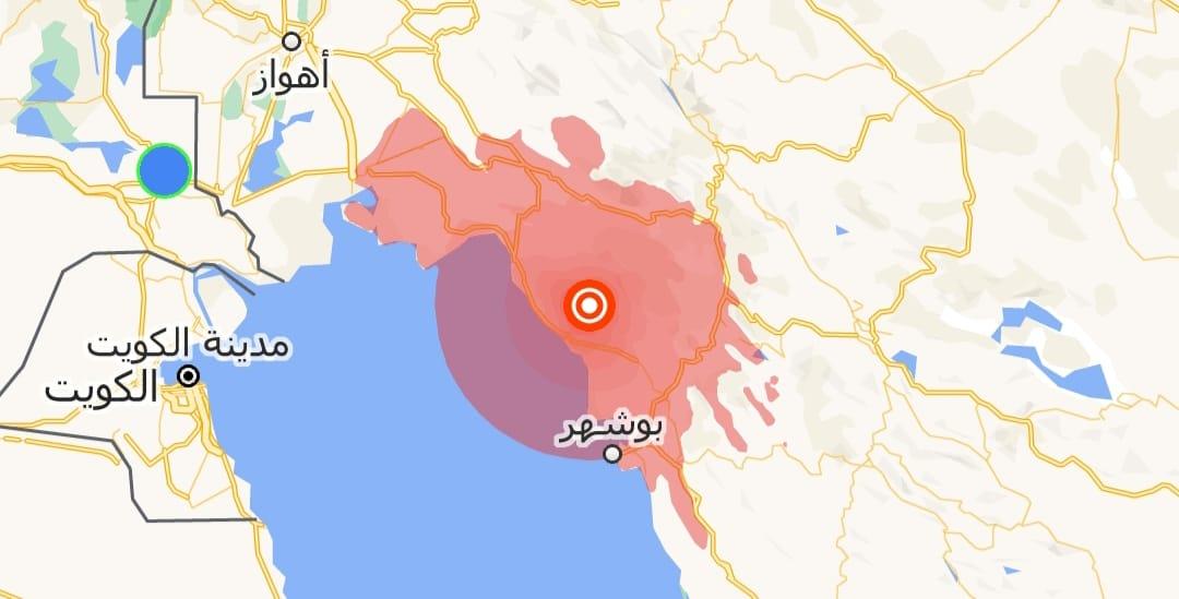 هزة أرضية قوية تضرب جنوبي إيران وسكان في البصرة يستشعرون قوتها