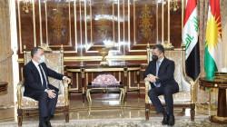 Masrour Barzani receives the Turkish ambassador to Iraq