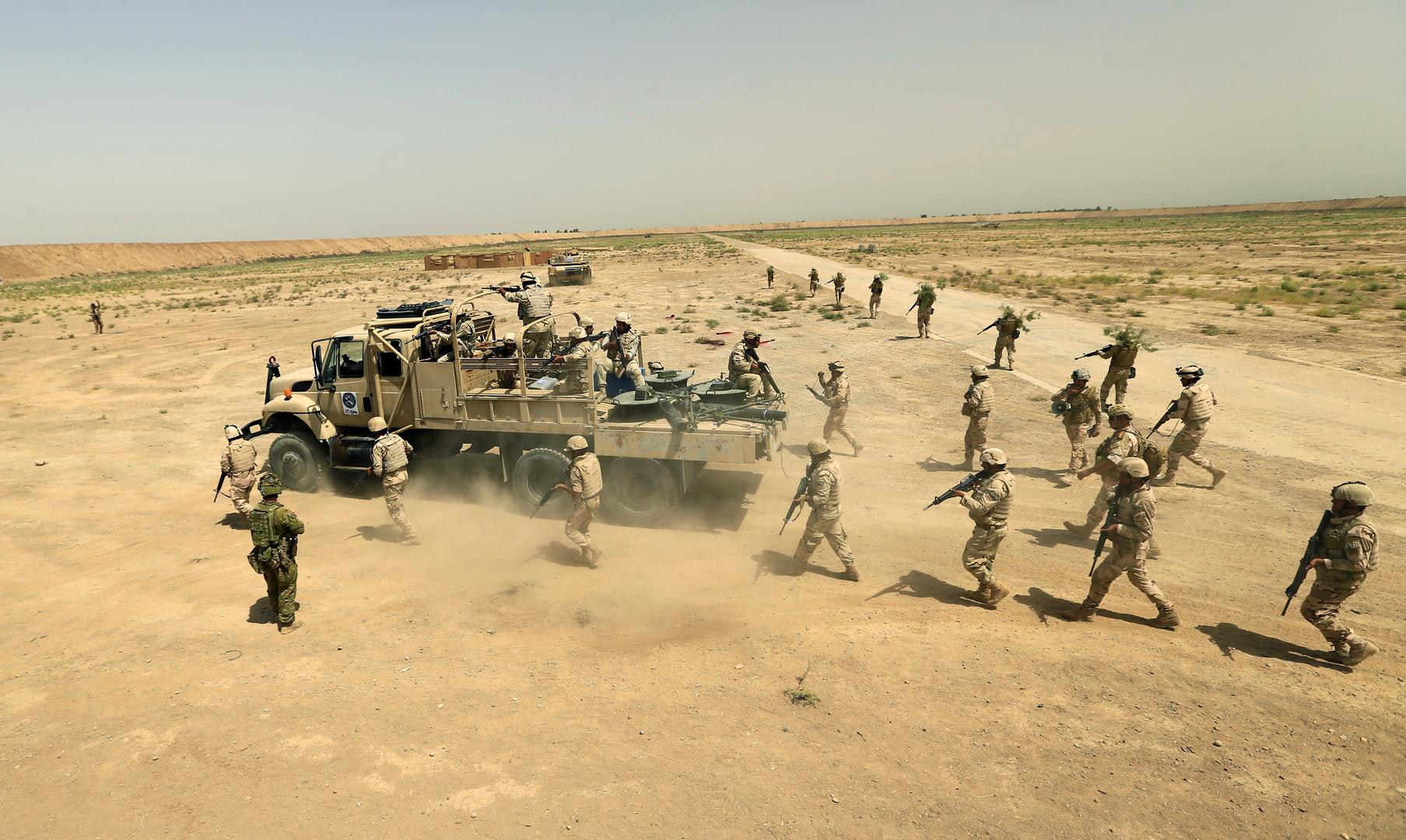 ضحية وجرحى من عناصر الجيش العراقي باستهداف دورية عسكرية شمال شرقي ديالى