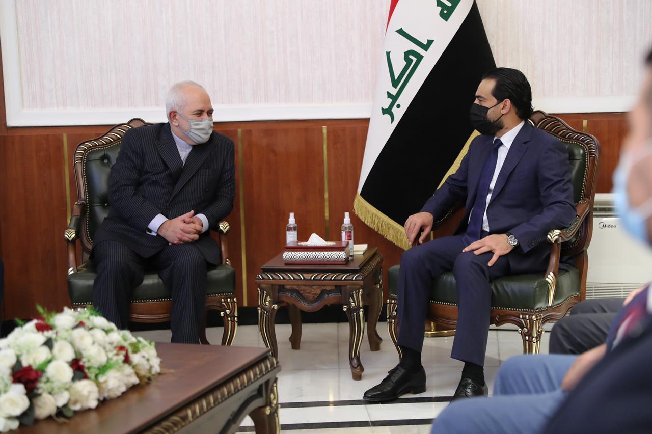 """الحلبوسي لـ""""ظريف"""": العراق يتبنى سياسة الانفتاح وبناء العلاقات المتوازنة"""