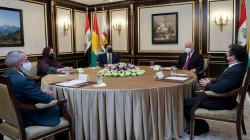 قادة إقليم كوردستان يجتمعون مع برهم صالح في بيرمام