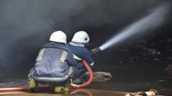 صور .. اندلاع حريق في معمل بأربيل