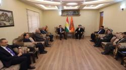 رئيس الاقليم يجتمع مع قيادات اسلامية كوردستانية