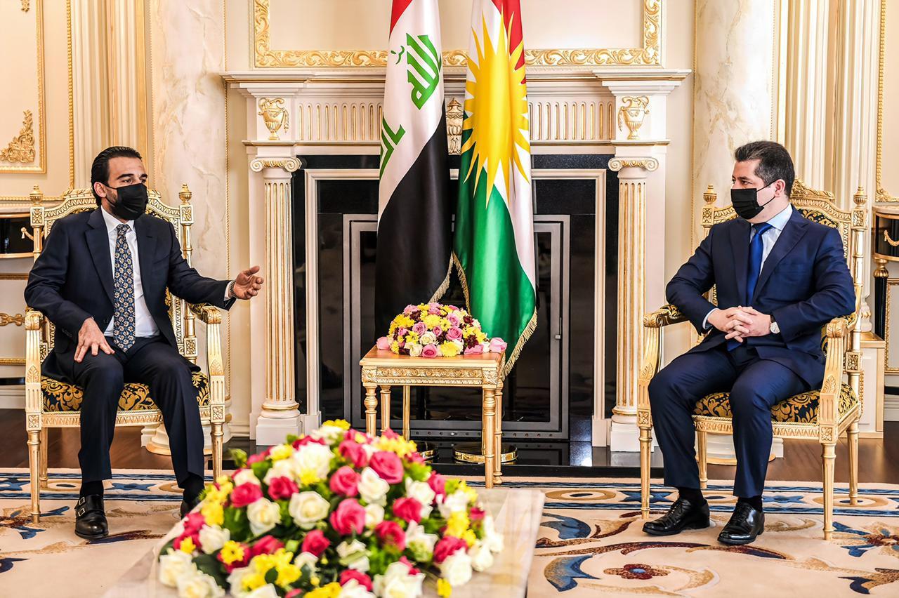 PM Barzani hosts the Iraqi Parliament Speaker al-Halboosi