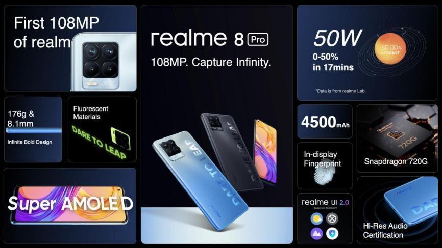 ريلمي تفاجئ متابعيها في العراق عبر realme 8 Pro