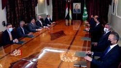 رئيس الاقليم يجري مباحثات مع الرئاسة المشتركة للاتحاد الوطني في السليمانية
