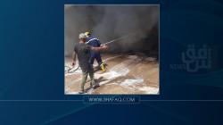 الدفاع المدني يخمد حريقاً داخل سوق وينقذ 138 محلاً شمالي بغداد