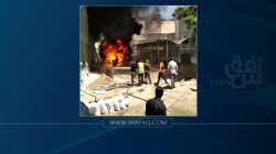 اندلاع حريق بالقرب من مكتبة جامعة الموصل