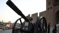 For the first time in a century.. the Iftar cannon fired in Erbil