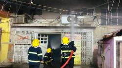 الدفاع المدني ينقذ 10 أشخاص علقوا داخل بناية محترقة وسط بغداد