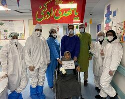 تعافي تسعينية ايرانية من مرض كورونا