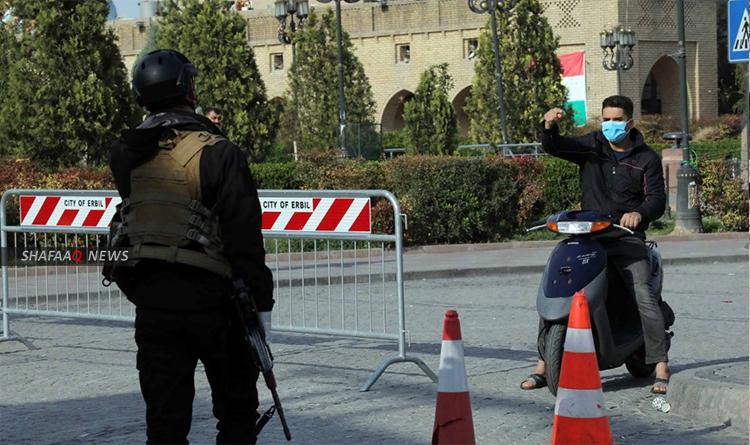 اكثر من 800 إصابة جديدة بكورونا كوردستان وسط تعافي 382